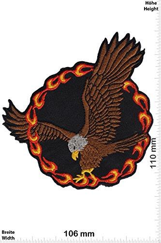 Patch - Eagle - Fire - Adler - Biker - Rocker - Chopper - Weste - Patches - Aufnäher Embleme Bügelbild Aufbügler