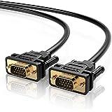 UGREEN Câble VGA Mâle vers Mâle VGA/SVGA Connecteur VGA Plaqué Or avec Noyau de Ferrite Supporte 1080P pour Projecteurs, Séparateur Vidéo, Interrupteur KVM, Moniteur etc. (2m)