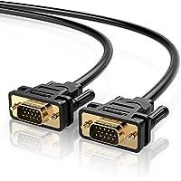 UGREEN Câble VGA SVGA Mâle vers Mâle 1080P Plaqué Or avec Noyau de Ferrite pour TV HD, Écran, Moniteur, Projecteur, PC de Bureau, Noir (1m)