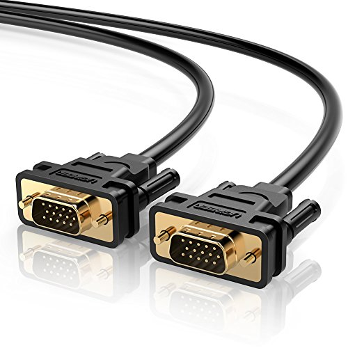 UGREEN VGA Cable, VGA Male to Male Video Coaxial Monitor Cable 1m with Ferrite Cores Gold Plated Compatible for Projectors, HDTVs, Displays