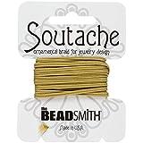 Beadsmith soutache poliéster cable 3mm de ancho–color beige 3YD