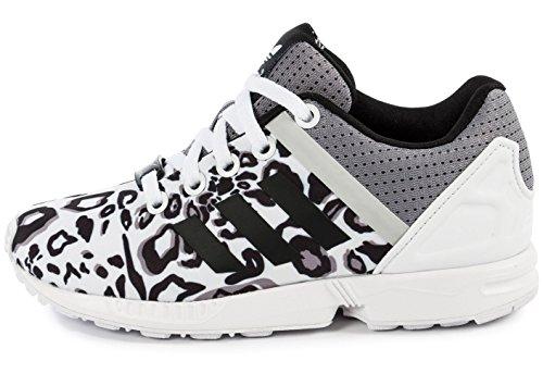 Adidas - Adidas Zx Flux Split K Scarpe Sportive Donna Bianche Tela S78735 Blanc