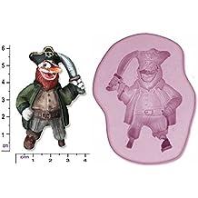 Pirata # 3Craft Chocolate Jabón de arcilla de polímero de Sugarcraft Caucho de silicona del molde del molde