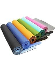 Esterilla de yoga »Shitala« / Esterilla de TPE respetuosa con el medio ambiente, hipoalergénica, suave y antideslizante / Perfecta tanto para profesores de yoga como para yoguis / Medidas: 183 x 61 x 0,5 cm / turquese