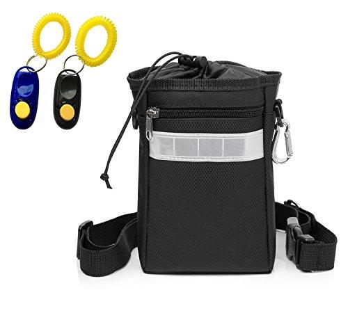 WEIJIGUOJI Chien Collation Sacs Portable Détachable Pochette pour Chien avec 2 Clickers (Noir)