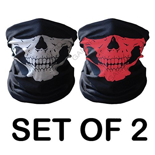 gampro-2-pcs-universal-seamless-tube-skull-face-mask-dust-proof-windproof-motorcycle-bicycle-bike-fa