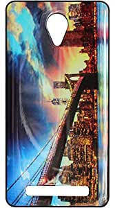 Vcare Shoppe Mobile Back Cover for Lava Iris Fuel F1 (Printed / Sparkle Effect)