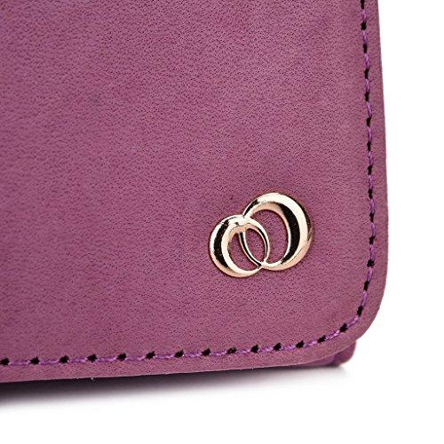 Kroo Pochette Housse Téléphone Portable en cuir véritable pour HTC Desire Eye, Huawei Ascend mate7 Violet - violet Violet - violet