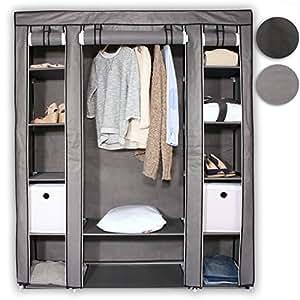 Tresko armadio di stoffa 176 x 148 x 45 cm armadio - Appendiabiti per cabina armadio ...