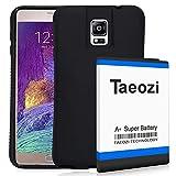 TQTHL - Batteria di ricambio per Samsung Galaxy Note 4 N910 N910F N910H ad alta capacità + custodia protettiva in TPU (più di 3 batterie supplementari)