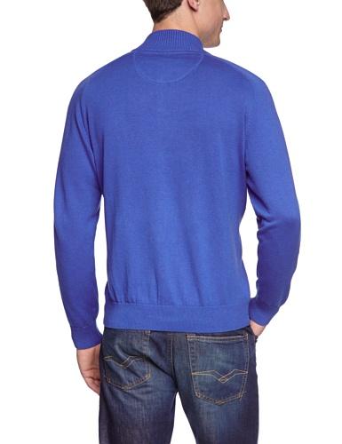 CASAMODA Herren Strickjacke Regular Fit 004250/41 Blau (blau 130)