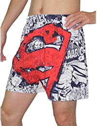 Superman Mens Functional Open Fly Boxer Shorts / Underwear