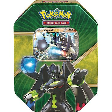 Pokemon TGC - XY Shiny Kalos Tin - Zygarde EX - Boite 4 Packs de Cartes Booster Version Anglaise