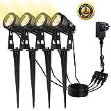 4 in 1 Gartenleuchte B-right 4er Pack Gartenbeleuchtung Außenleuchte mit erdspieß, LED Gartenstrahler mit...