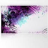 LanaKK - Jungle Drum Pink Blau - Fototapete Poster-Tapete - edler Kunstdruck auf Vliestapete in 300x180 cm