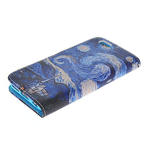 MOONCASE Pattern Series Housse de Protection Coque en Cuir Portefeuille Étui à rabat Case pour Apple iPhone 6 (4.7 inch) A16320