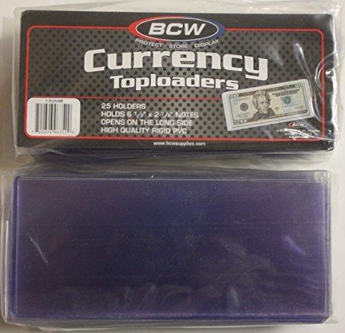 BCW Currency TOPLOADER Hard Hard Hard Hard Hard Holder for Banknoten Money US Dollar Bill by BCW