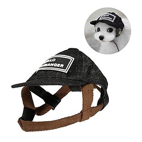 Petacc Haustier-Baseball-Mütze Im Freien Sonnenschutz-Hut Haustier-Sommer-Kappen Haustier-Sonnenhut für kleine Hunde und
