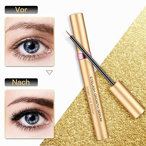 Eyelash Growth Serum Wimpernserum Augenbrauenserum mit Hyaluronsäure für Lange Wimpern und Augenbrauen von Comtervi