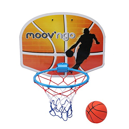 Hamleys Moovngo Doorway Basketball Set, Orange/Blue