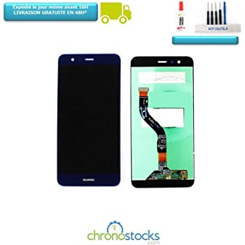 CHRONOSTOCKS ECRAN Complet LCD + VITRE Tactile Huawei P10 Lite Bleu  WAS-LX1A + Outils + Colle b45fa7e71a3d
