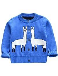 K-youth Abrigos Bebé Ropa Niña Otoño Invierno, Niño Niña Cartoon Tops Rebeca de Dibujos Animados de Alpaca Manga Larga de una Sola Fila suéter Abrigo de suéter de los niños
