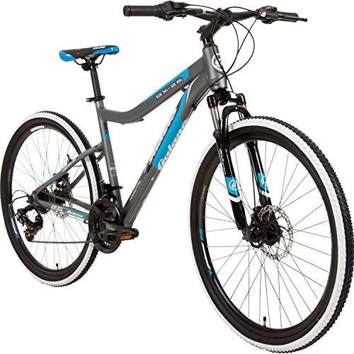 Galano GX-26 26 Zoll Frauen Mountainbike Hardtail MTB (grau/blau, 44cm)