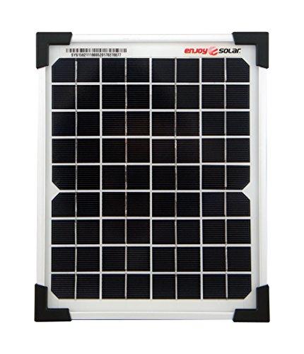 enjoysolar® Monokristallin 5Watt 12V Solarmodul Solarpanel Mono 5W ideal für Garten Camping