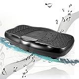 Buyi-World Profi Vibrationsplatte, Belastbarkeit bis 150kg mit Bluetooth Musik, Riesige Fläche, LCD