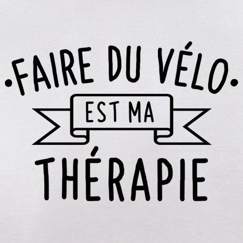 Faire du vélo est ma thérapie - Femme T-Shirt - 14 couleur Blanc