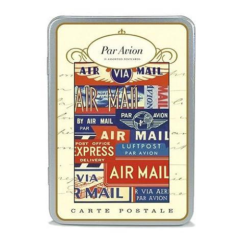 Cavallini & Co. Carte Postale Postcard Set Par Avion by Cavallini & Co.