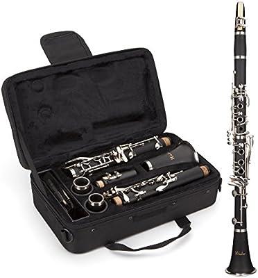 Windsor MI-1003 - Clarinete para estudiantes (en si bemol, completo con funda), color negro
