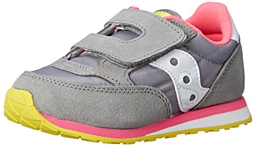 SAUCONY ST51692 JAZZ HL grey pink scarpe bambina girls strappo Grey/Pink