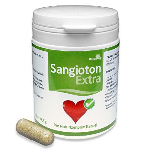 Sangioton Extra bei hohem Blutdruck, mit L-Arginin, L-Citrulin, Folsäure, Vitamin K2, 120 Kapseln