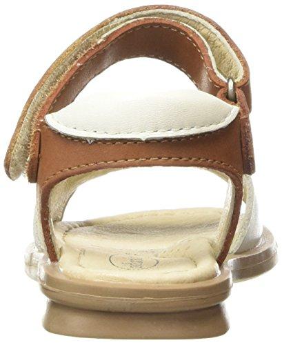 Old Soles Caprese, Sandales Compensées fille Multicolore - Multicolor (White/Tan)
