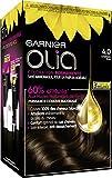 Garnier - Olia - Coloration Permanente à l'Huile Sans Ammoniaque Châtain - 4.0 Châtain Pur