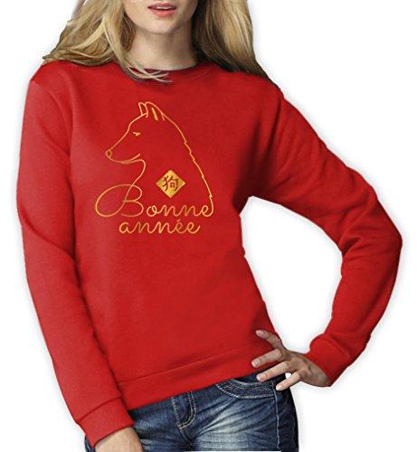 Nouvel an chinois - lunaire - Année du chien swagg Sweatshirt Femme Rouge
