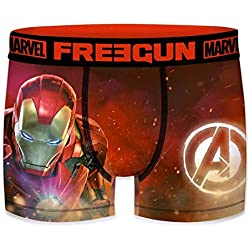 FREEGUN Bóxer para Hombre Marvel Avengers Iron Man (M, Iron Man )