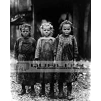 1911 Young Girl Oyster Shuckers child Labor [8 x