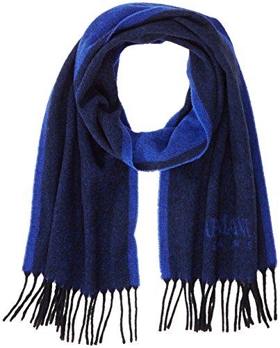 Armani Jeans Herren Schal, Mehrfarbig (Nero/Blue 00022), One Size (Armani Schal)