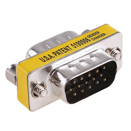 Db15-mini Gender Changer (Gender Changer Adaptor KINGZER Mini 15 pin HD DB15 VGA SVGA Stecker auf Stecker NEW)