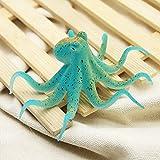 Aulley Fluoreszierende künstliche Octopus Aquarium Ornament mit Saugnapf Fisch Tank Dekoration blau