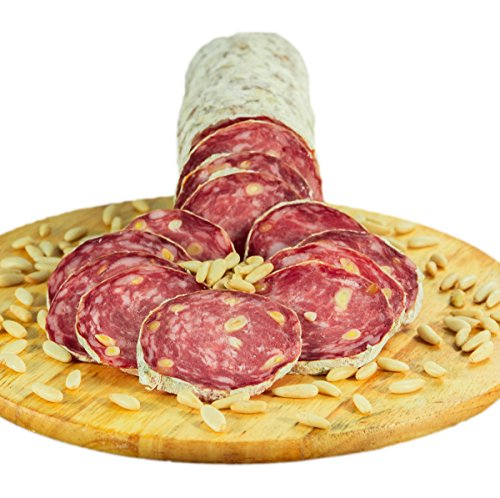 Quartetto Salami Aromatizzati - OFFERTA - 1 Salame ai Pinoli 0,5 kg, 1 Salame ai Pistacchi 0,5 kg, 1 Salame alle Noci 0,5 kg, 1 Salame alle Olive 0,5 kg - Salumificio Artigianale Gombitelli - Toscana