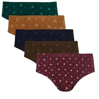 (Pack of 5) Women Branded TT Printed Panties