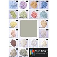 CHALK 2 CHIC - Lote de 312 g de pintura en polvo de color gris, hasta 2 litros de pintura para muebles, acabado vintage, ecológica