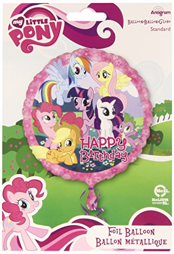 y Folienballon Happy Birthday Standard (My Little Pony-halloween-party)