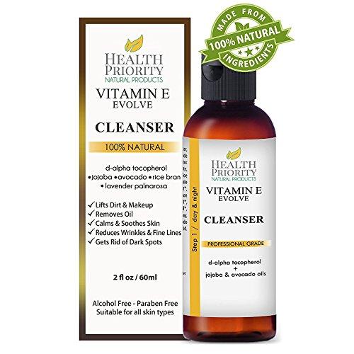 100% Natürliche Vitamin-E-Gesichtsreinigungs. Die beste Gesichtsreinigungsmilch für trockene bis fettige Haut. Klärende Anti-Akne & Anti-Hautunreinheiten-Reinigungsmilch, besser als Seife.
