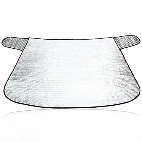 Voiture SUV Sun Shade Block Front Pare-brise Parasol Protection solaire Baffle Isolation Garder le véhicule Cool En été Anti congélation en hiver 142cm *