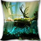 NasNew 2016 Ori & The Blind Forest Custom Design Throw Pillow Queen Size Pillow Cushion Case Cover Two Sides Printed 45x
