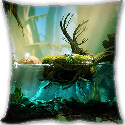 NasNew 2016 Ori & The Blind Forest Custom Design Throw Pillow Queen Size Pillow Cushion Case Cover Two Sides Printed 45x45cm(18x18inch) Medium